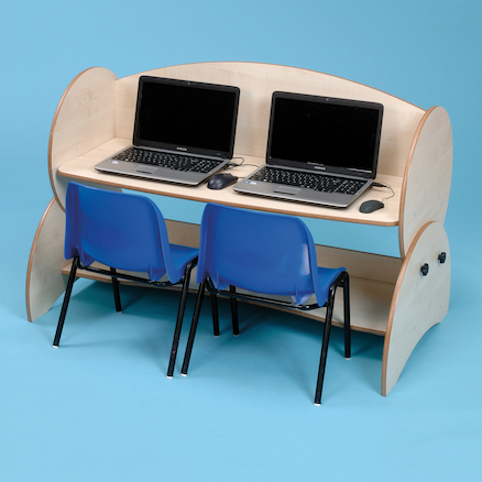 Double Computer Desk  large