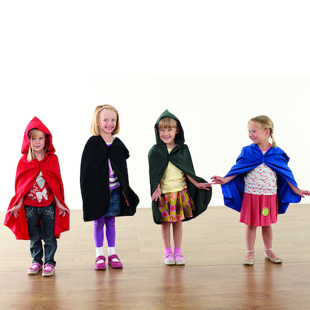 Role Play Coloured Cloaks 4pk  large