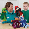 Role Play Superhero Puppets 4pk  small