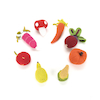 Fairtrade Crocheted Fruit & Veg Baby Rattles 8pcs  small