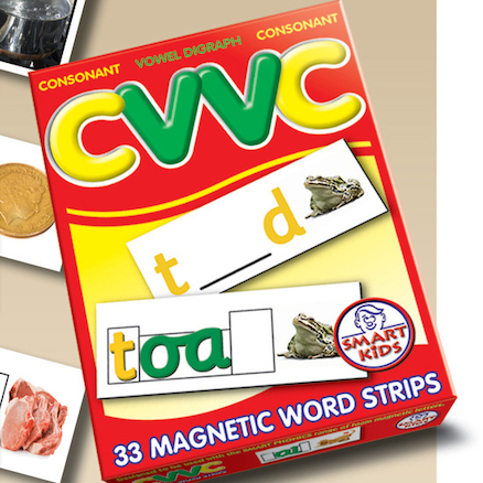Double Sided CVVC Magnetic Word Strips 33pk  large