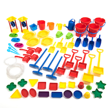 Large Plastic Sand and Water Tool Set 66pcs  medium