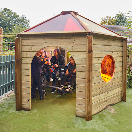 Outdoor Rainbow Den with Wheelchair Access  large