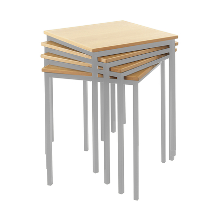 Fully Welded Tables Coloured Edge Square   large