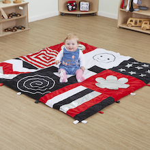 Black & White Large Sensory Rug  medium
