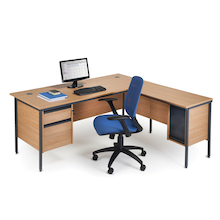 Maestro Rectangular Two Drawer Desks  medium