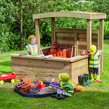 Outdoor Wooden Enclosed Role Play Centre  medium