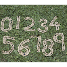 Seagrass Outdoor Weaving Numbers 0-9  medium