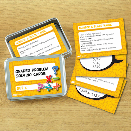KS3 Graded Problem Solving Activity Cards Set 3pk  large