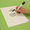 Dry Wipe Whiteboards With Isometric Grid 35pk  small