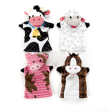 Role Play Farm Animals Puppet Set 4pcs  medium