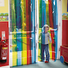 Rainbow Transparent Free Flow Curtains  small