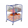 Wire Basket Equipment Trolley L105 x H76 x W64cm  small