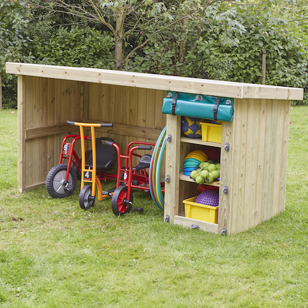 Outdoor Wooden Multi Purpose Storage Unit  large