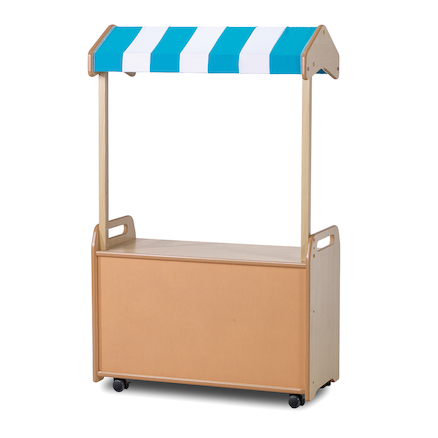 Mobile Shelf Unit with Canopy  large