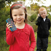 Rechargeable Mobile Phone Walkie Talkie Set 6pk  small