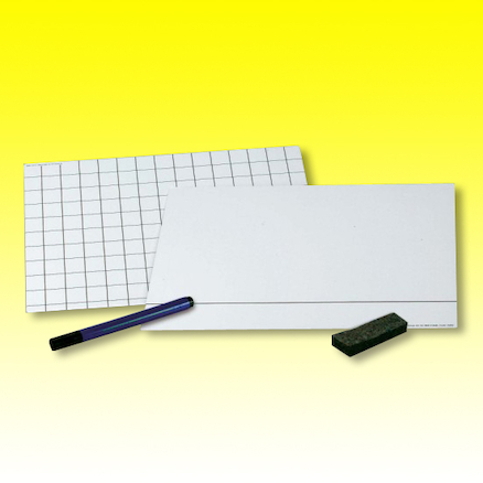 Maths 2cm Grid Card Whiteboards 30pk  large