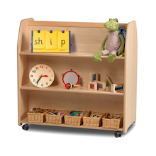 PlayScapes Mobile Double Sided Shelf Unit  medium