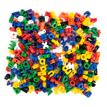 Threading and Lacing Alphabet Letters 175pcs  medium