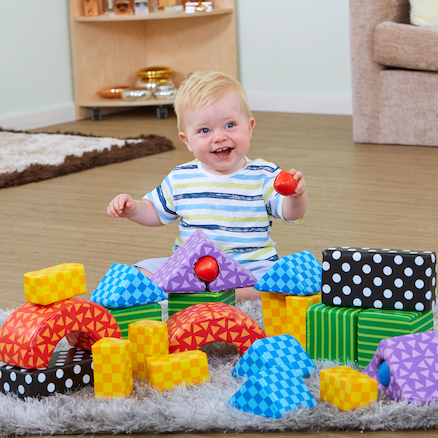 Soft \x26 Safe Building Blocks 26 pcs  large