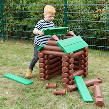 Jumbo Log Building Set  medium