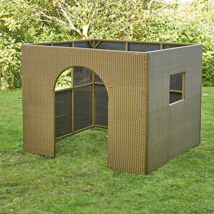 Outdoor Plastic Rattan House  large