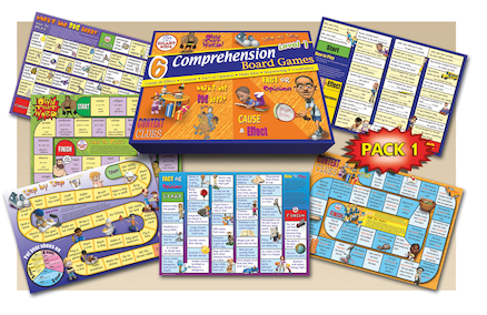 Reading Comprehension Board Games Level 2  large