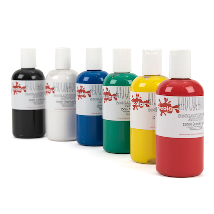 Scola System Assorted Acrylic Paint 6pk  large