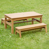 Outdoor Low Table and Benches Set  small