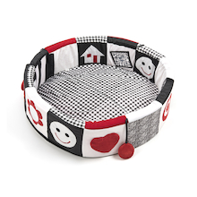 Black and White Textured Baby Seating Pod  medium