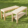 Small Outdoor Wooden Bench  small