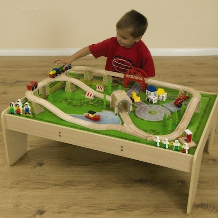 Small World Wooden Train Set and Table  large