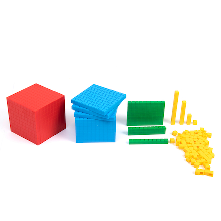 Plastic Interlocking Base Ten Set 121pc  large