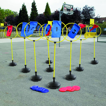Frisbee Target Course Game Set of 9  large