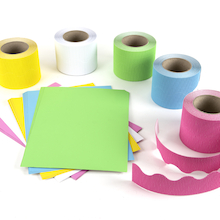 Corrugated Border Rolls Cool Colours Assorted 15m 5pk   medium