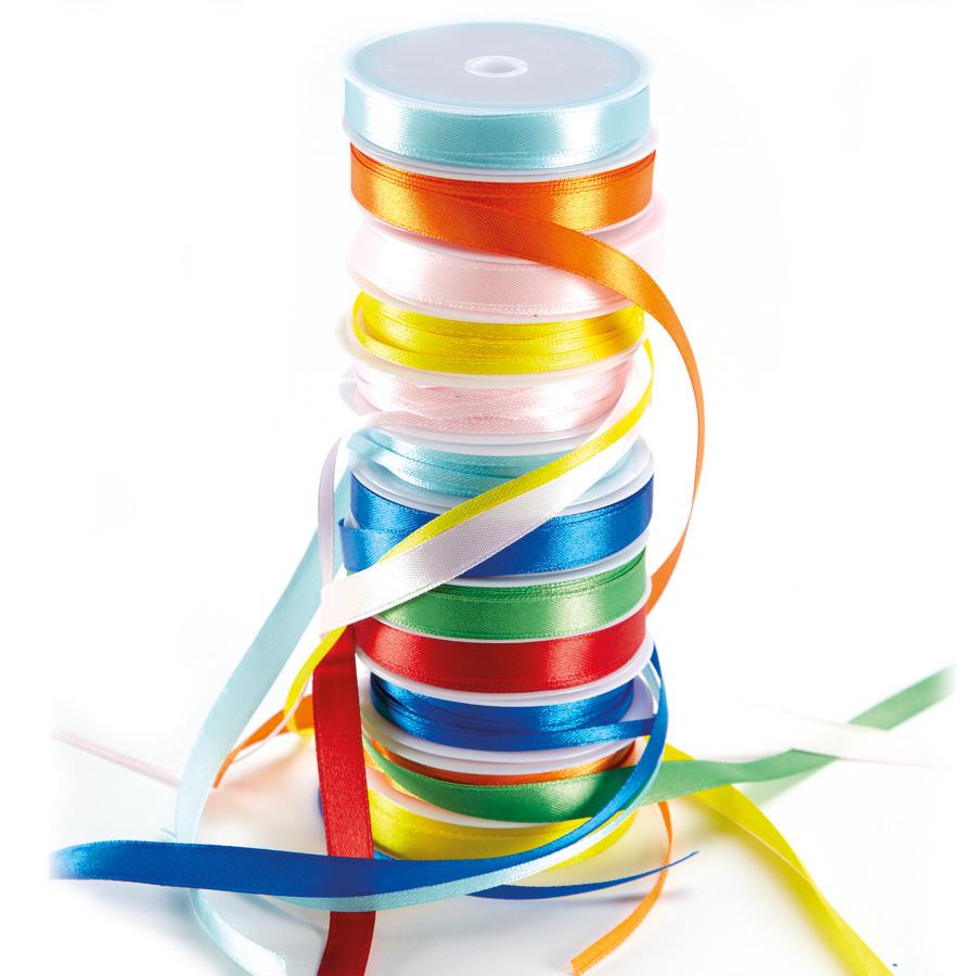 Buy Satin Ribbon Assorted 120m 16pk Tts