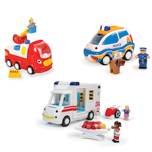 Wow Toys Emergency Services Vehicle 3pk  medium