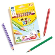 BIC Triangular Colouring Pencils Assorted 12pk  medium
