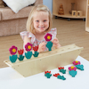 Wooden Counting and Sequencing Flowers 1-10  small