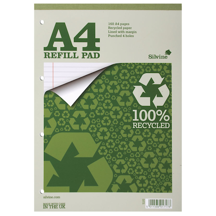 100% Recycled Lined Refill Notepad  large