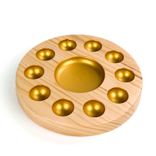 Sensory Wooden and Metallic Sorting Bowl  medium