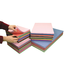 Assorted Sugar Paper Stack A4/A3 3750pk  medium