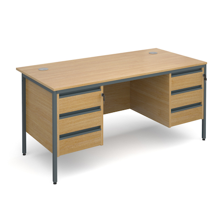 Double Three Drawer Desk  large