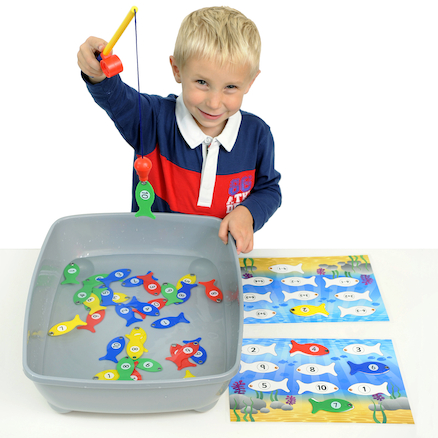 Magnetic Numbers Fishing Game  large