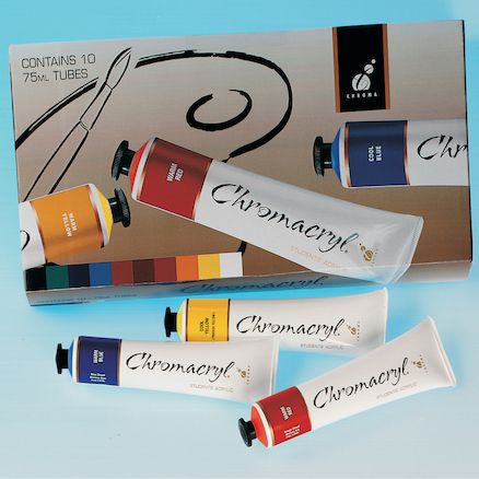 Chromacryl Ass. Colours Acrylic Paints 75ml 10pk  large