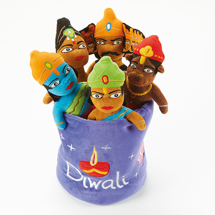 Washable Diwali Festival Story Basket 8pcs  large