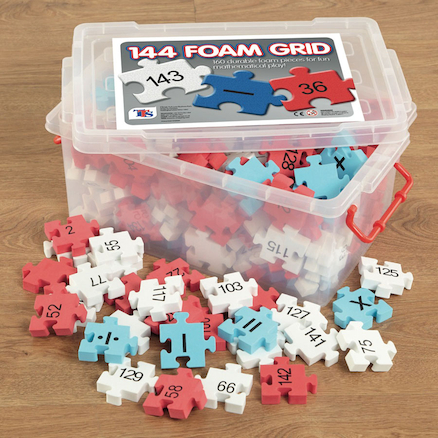Foam Number Square Puzzle 1\-144  large