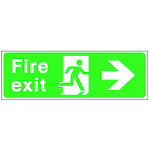 Fire Exit Arrow Signs Rigid Plastic  medium