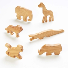 Wooden Small World Wild Animals  medium