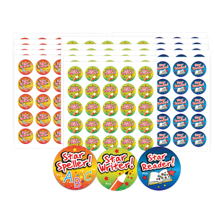 Literacy Star Reward Stickers 375pjk  large